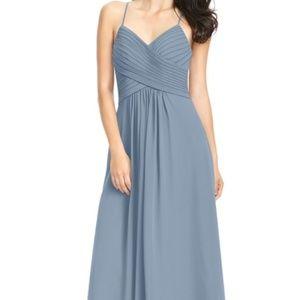Azazie Dusty Blue Maxi Bridesmaid Dress